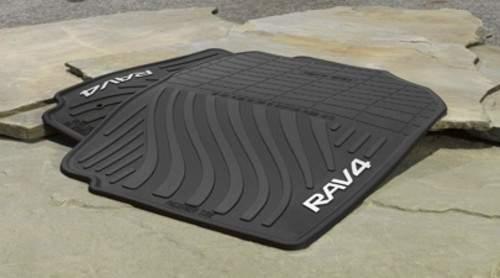 toyota oem 2007 2014 rav4 rubber all weather floor mat. Black Bedroom Furniture Sets. Home Design Ideas