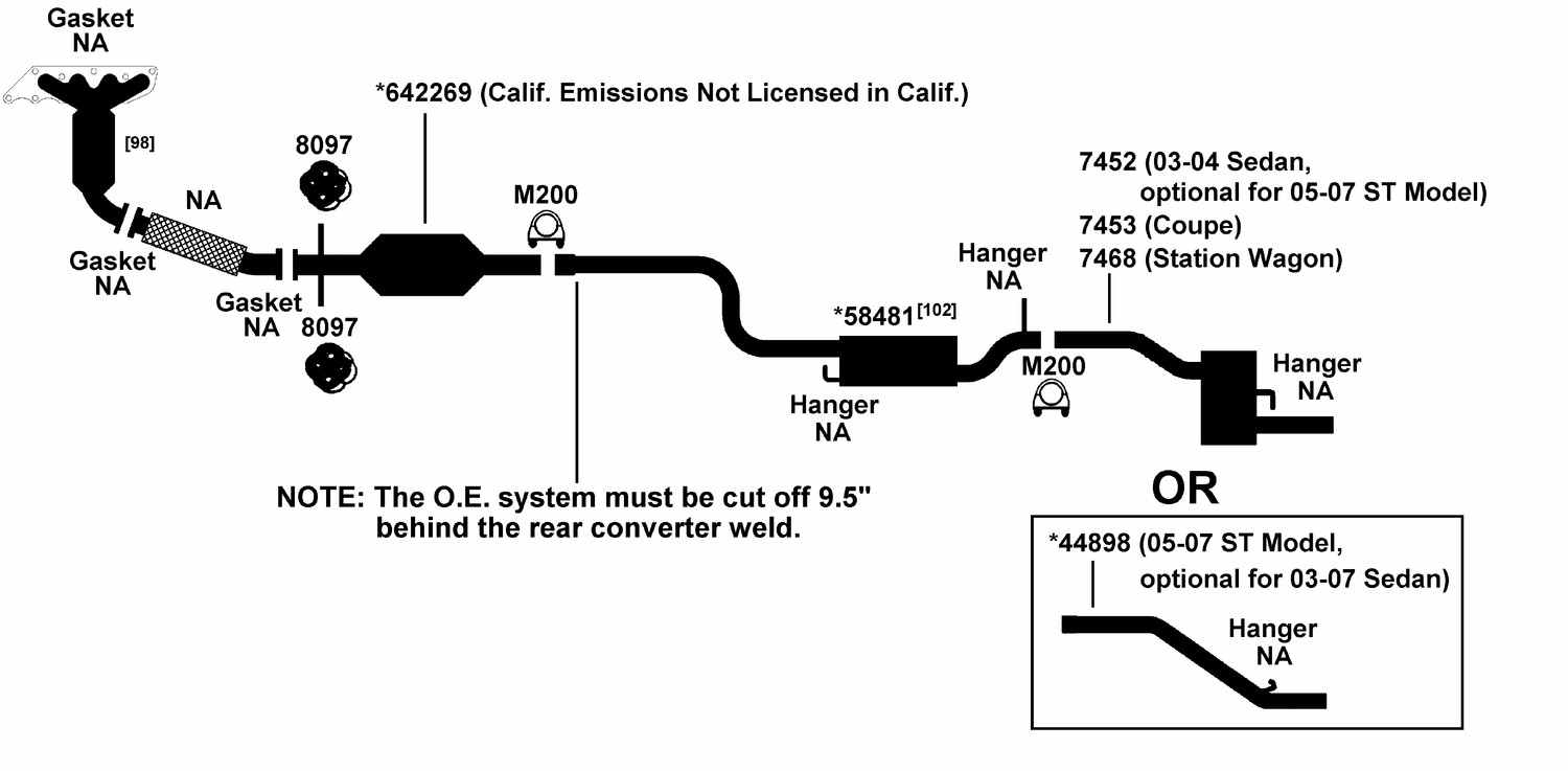 Ford Exhaust Diagram Touch Wiring Diagrams Focus From Best Value Auto Parts Taurus