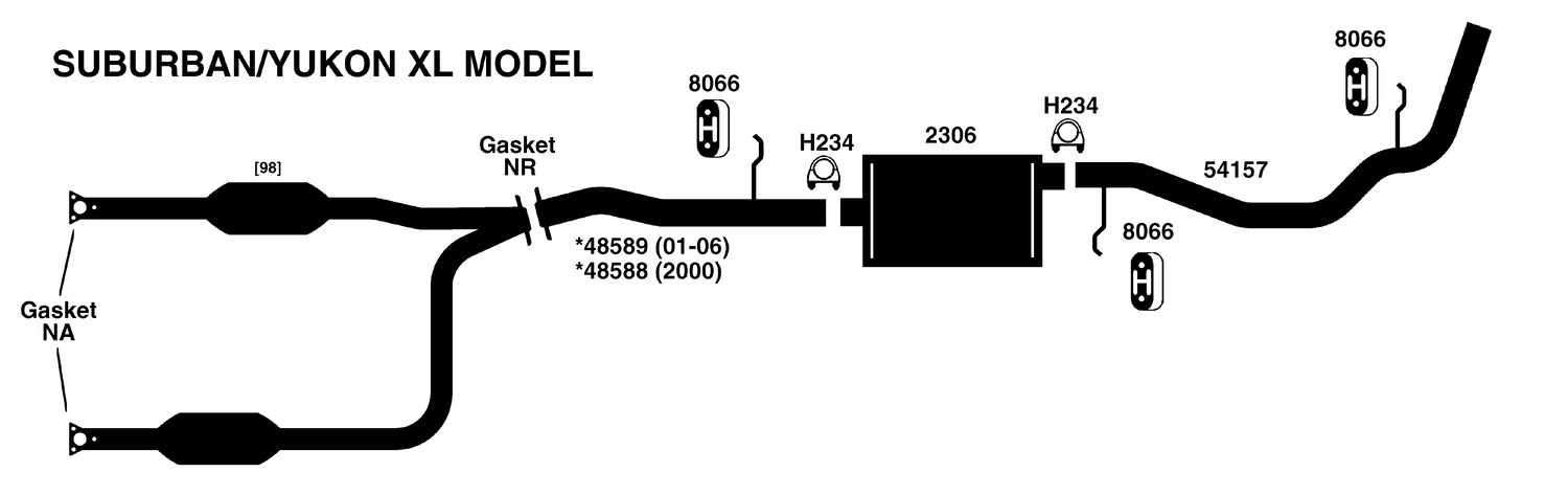 Gmc Yukon Xl 1500 Exhaust Diagram From Best Value Auto Parts