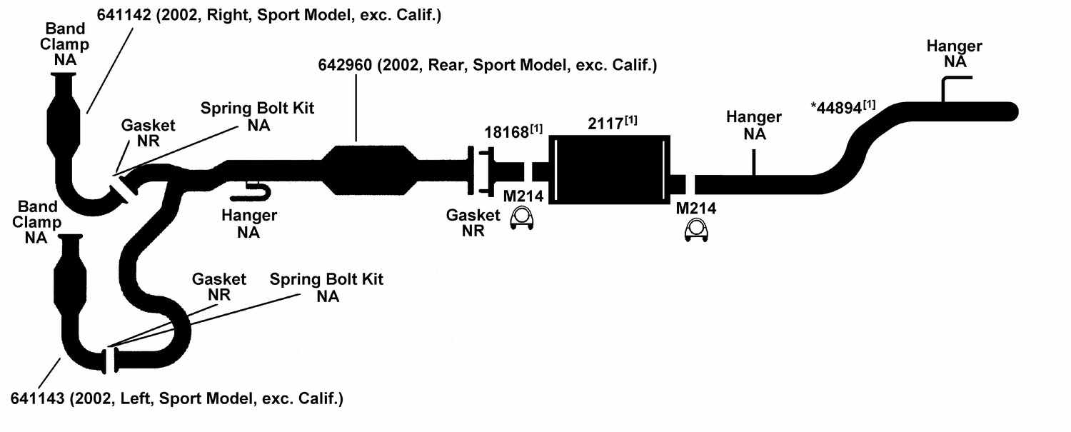 Illust Ref c Exhaust on 1999 jeep grand cherokee parts diagram
