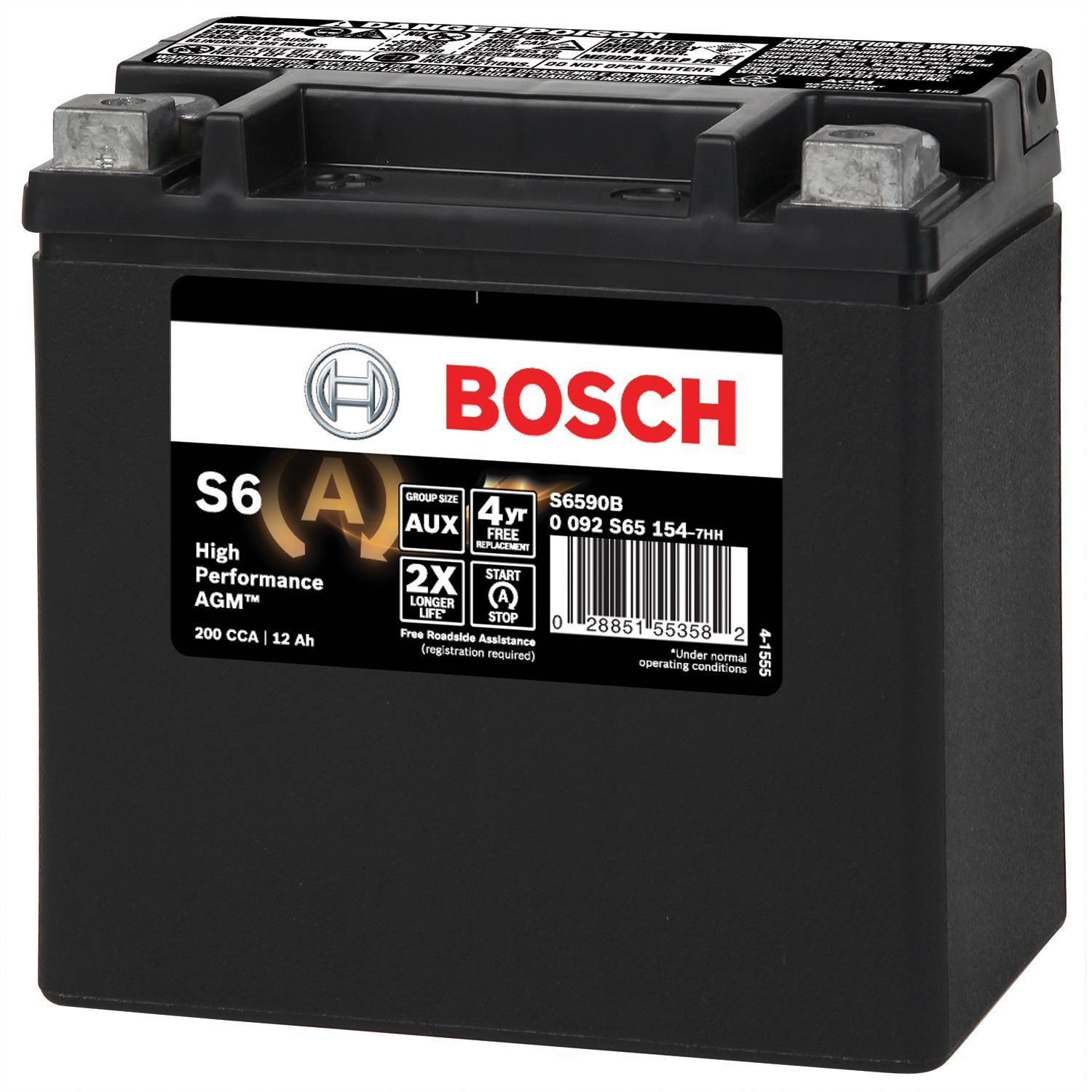 Battery agm automotive auxiliary bosch s6590b fits 06 11 for Mercedes benz auxiliary battery price