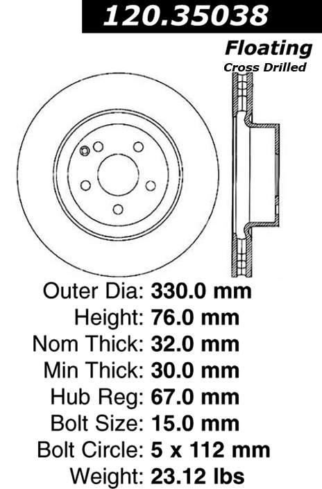 Mercedes benz s430 front brake rotor from best value auto for Mercedes benz s430 parts catalog