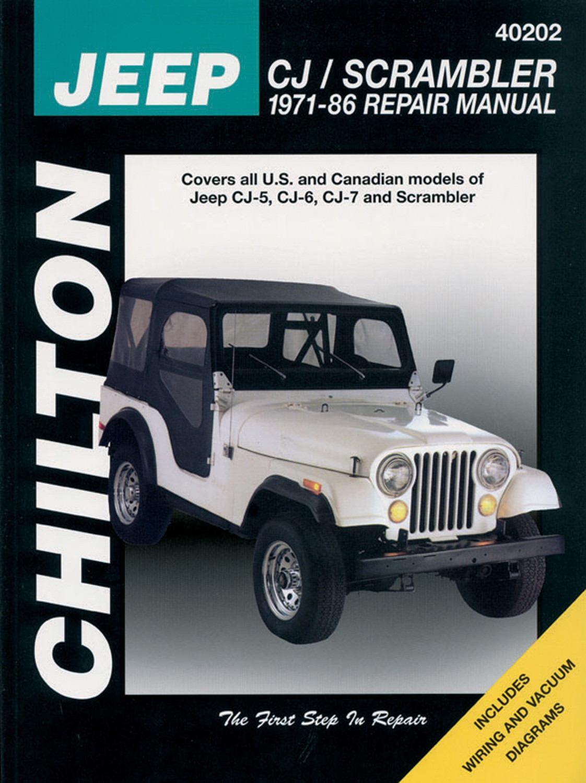 Chilton 40202 Repair Manual Jeep Cj5 Cj6 Cj7  U0026 Scrambler