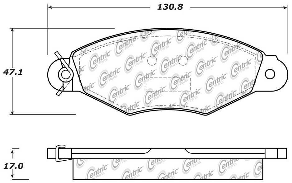 Foto de Pastillas de Freno C-TEK Metallic Pads-Preferred para Renault Scénic 2005 Marca C-TEK Número de Parte 102.14990