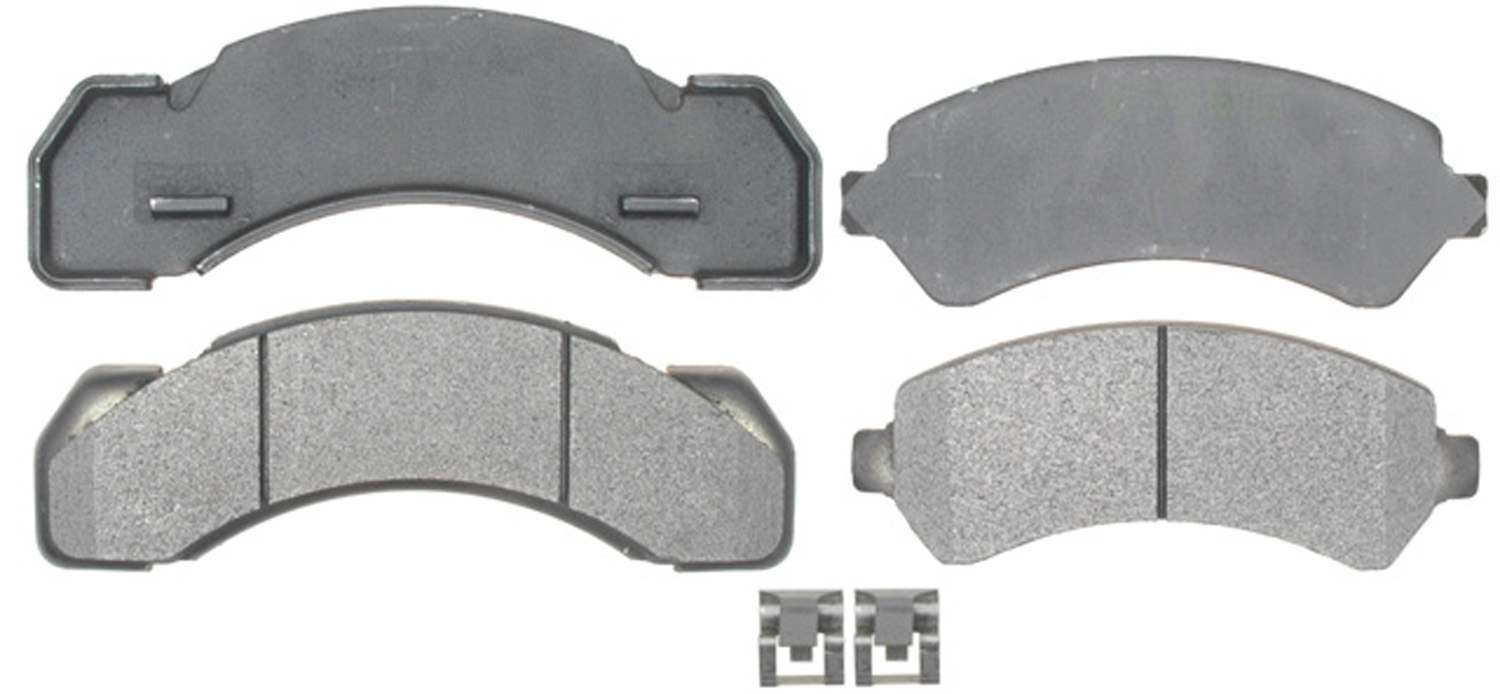 Semi metallic disc brake pad fits 2000 2000 workhorse p30 acdelco professional