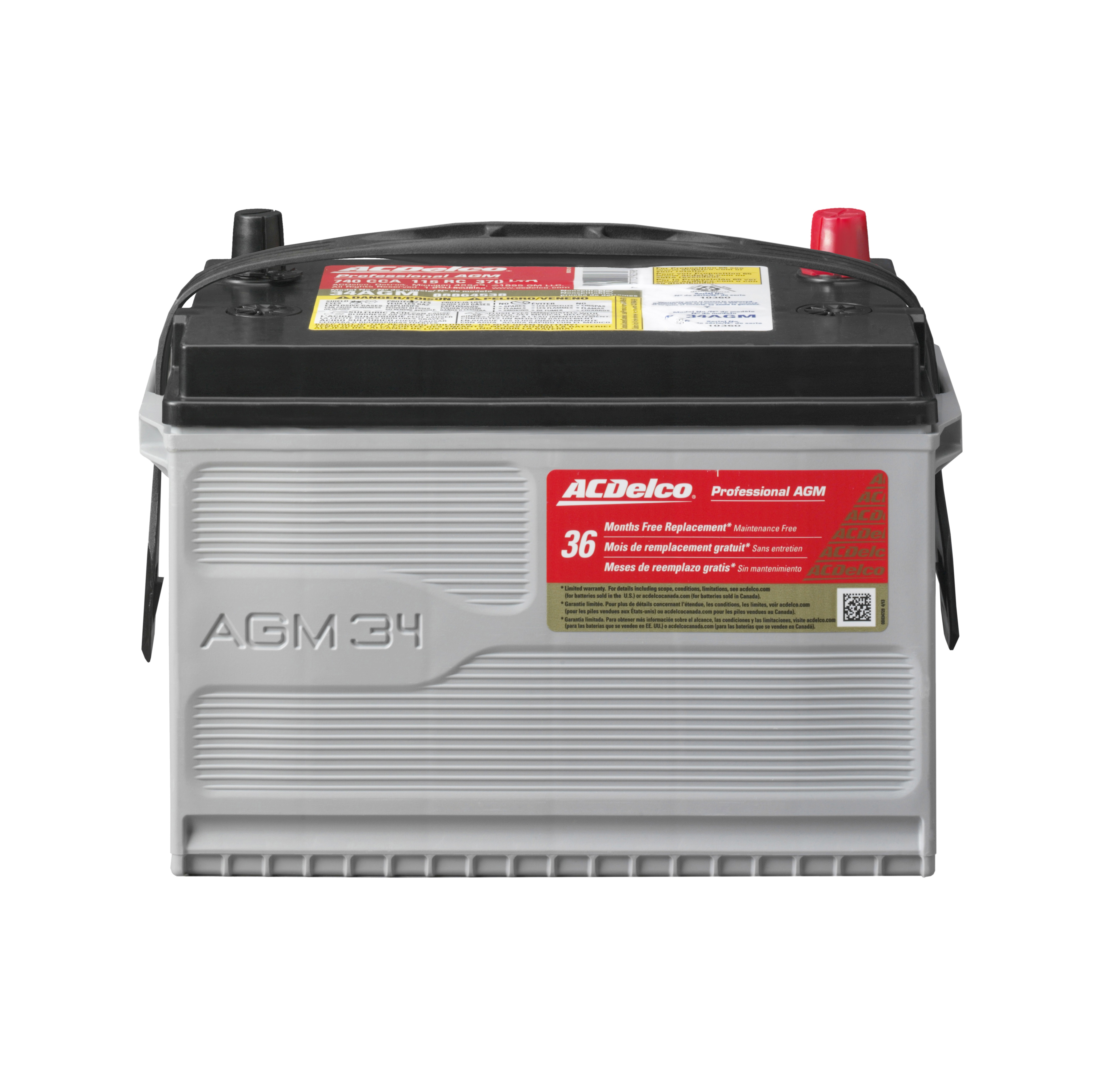 Battery Automotive AGM ACDELCO PRO 34AGM, 36 MONTH