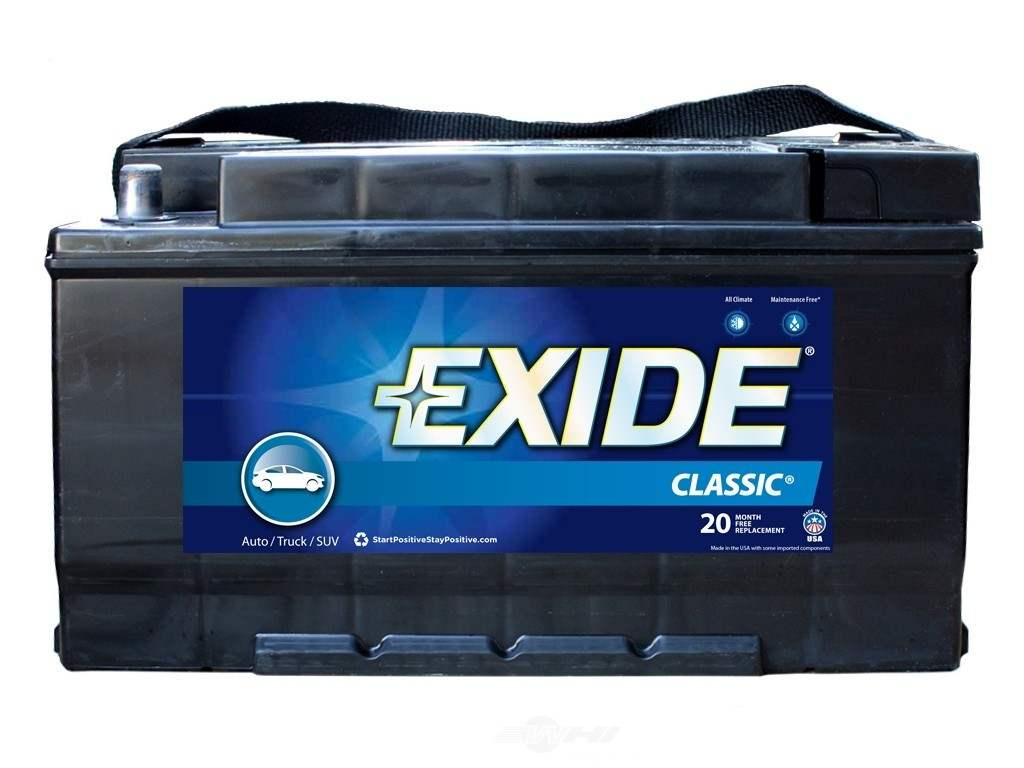 battery exide classic cca 850 exide batteries new 49c. Black Bedroom Furniture Sets. Home Design Ideas