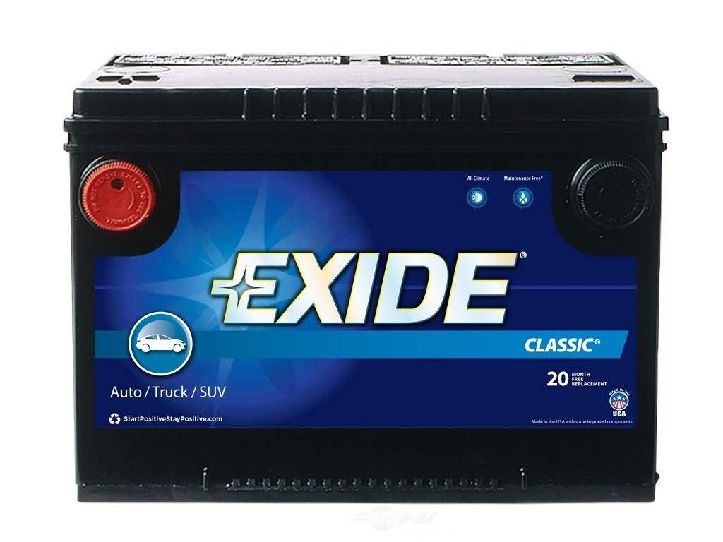 Battery-Exide Classic - CCA: 630 Exide Batteries New 78C ...
