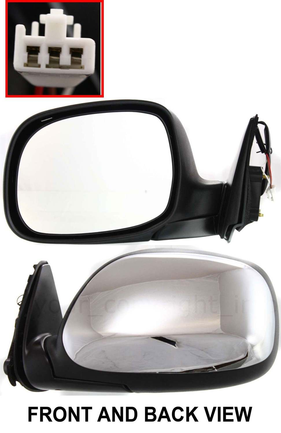tundra rear view mirror ebay