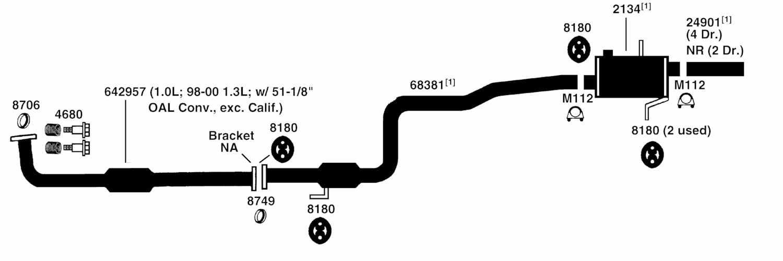 2002 Chevy Prizm Exhaust Diagram Wiring Schematic  I Need