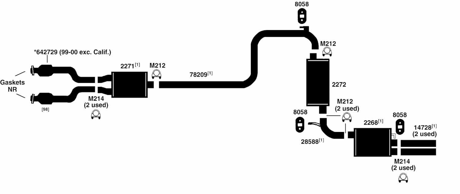 2005 nissan maxima exhaust system diagram