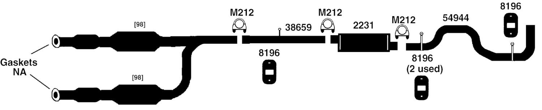 Diagram Description Exhaust Diagrampart For 19981999 Ford Ranger