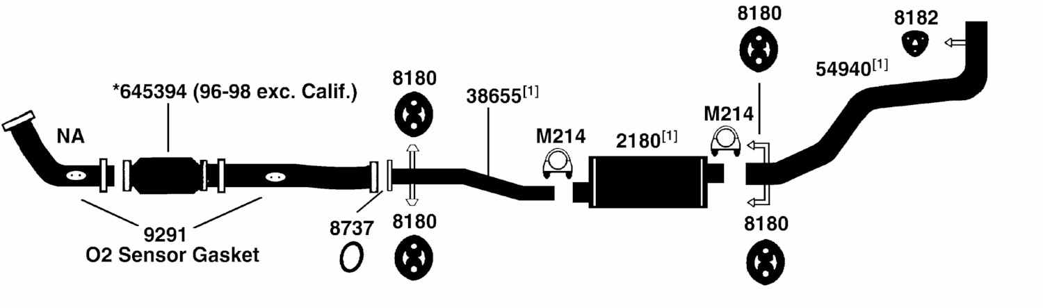 Toyota Pickup T100 Exhaust Diagram From Best Value Auto Parts