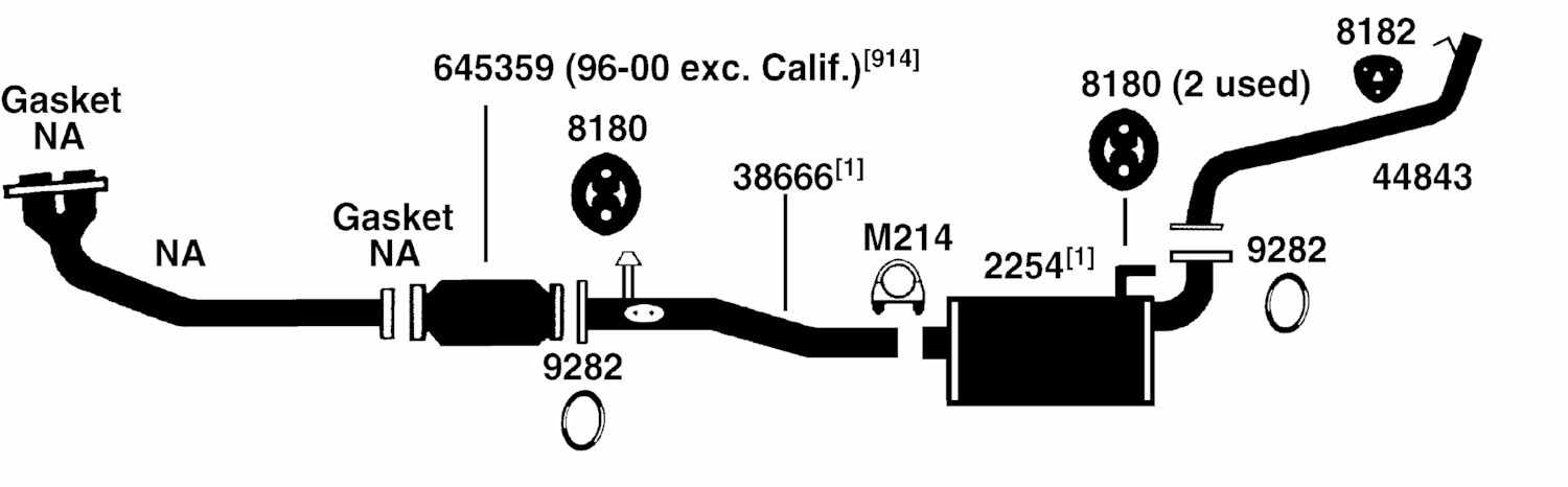 Illust Ref c Exhaust on 2000 toyota rav4 engine diagram html