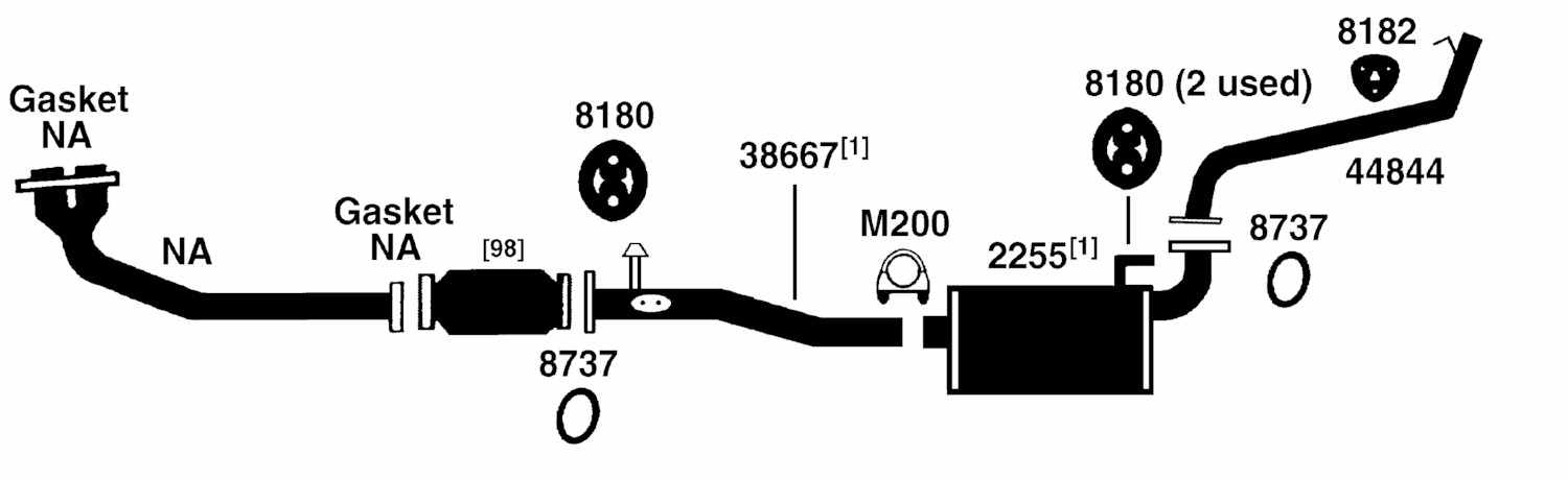 toyota 4runner exhaust diagram from best value auto parts