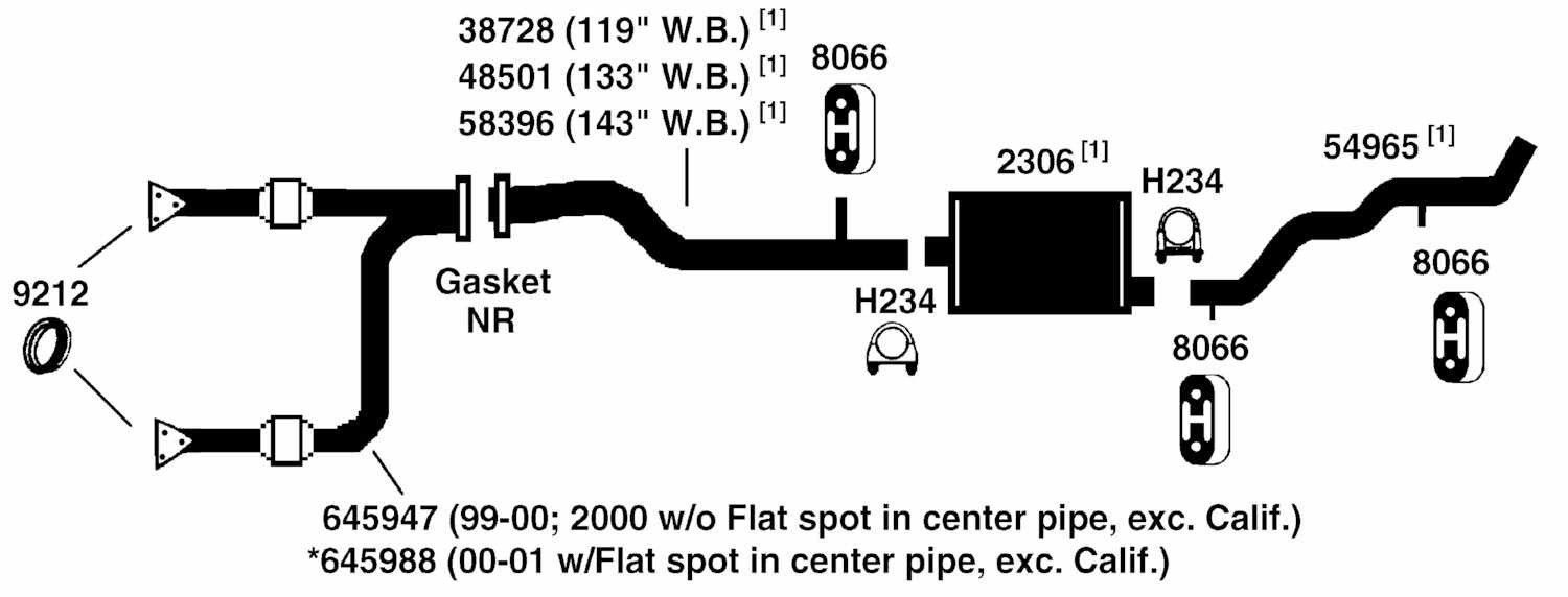100321 chevrolet silverado 1500 exhaust diagram from best value auto parts