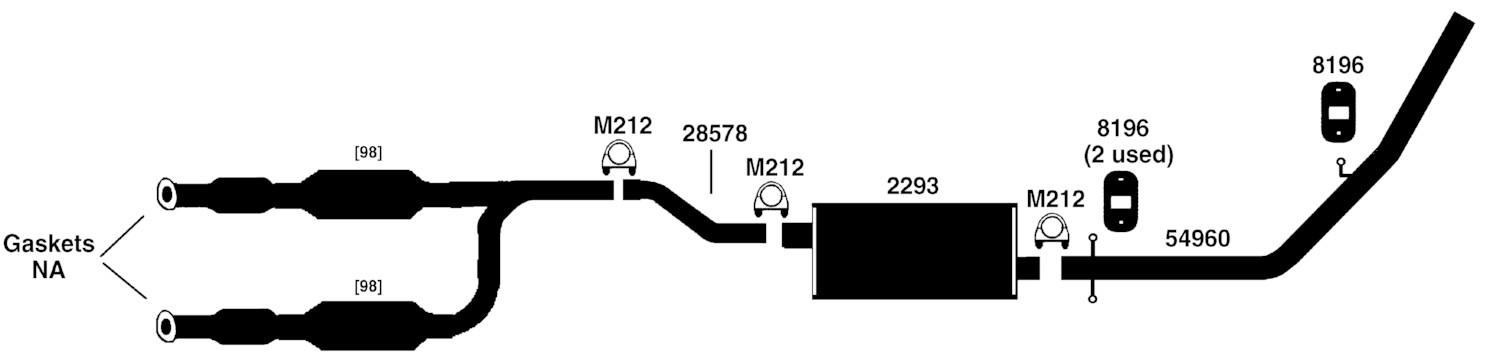 Lincoln Navigator Exhaust Diagram From Best Value Auto Parts