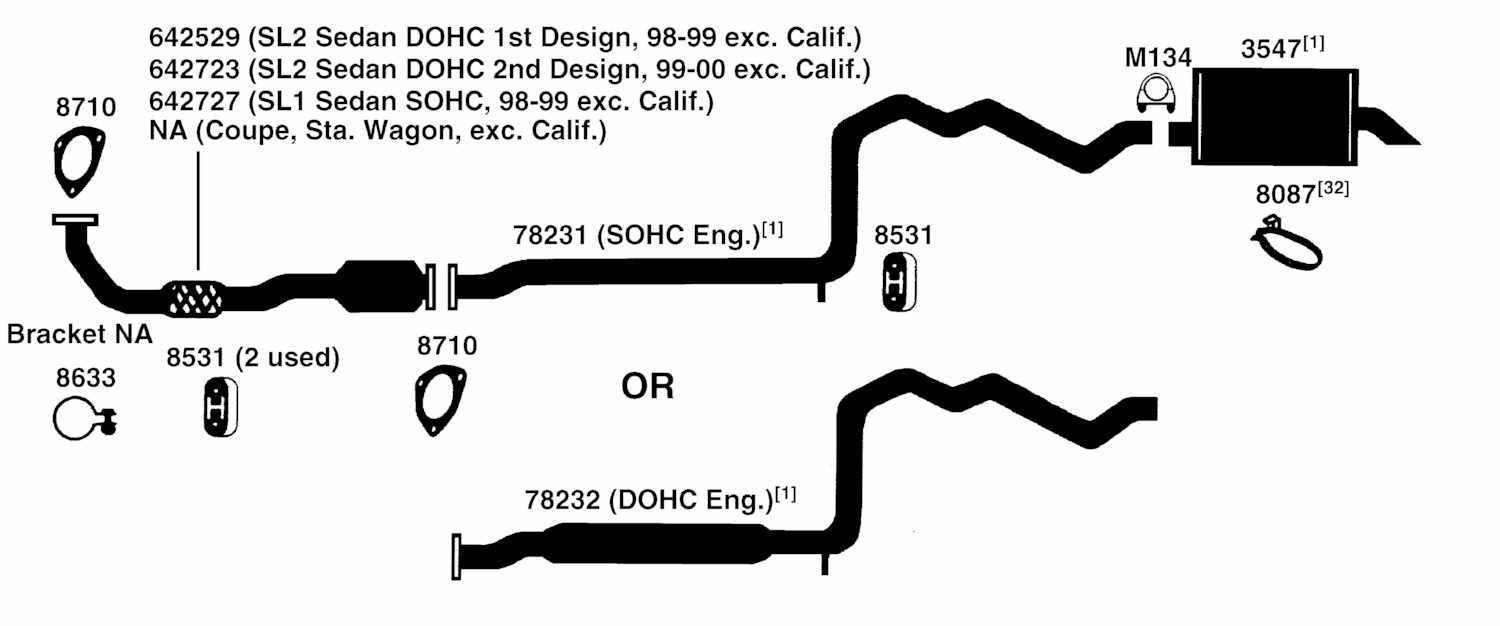 Saturn Sl2 Exhaust System Diagram Schematic Diagram Data