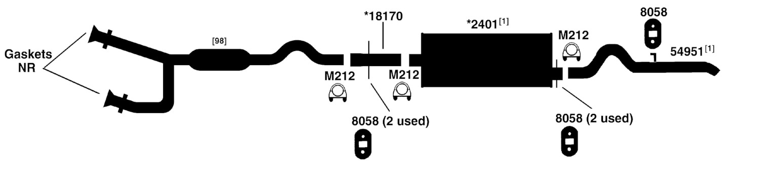 2005 Dodge Dakota Exhaust System Diagram