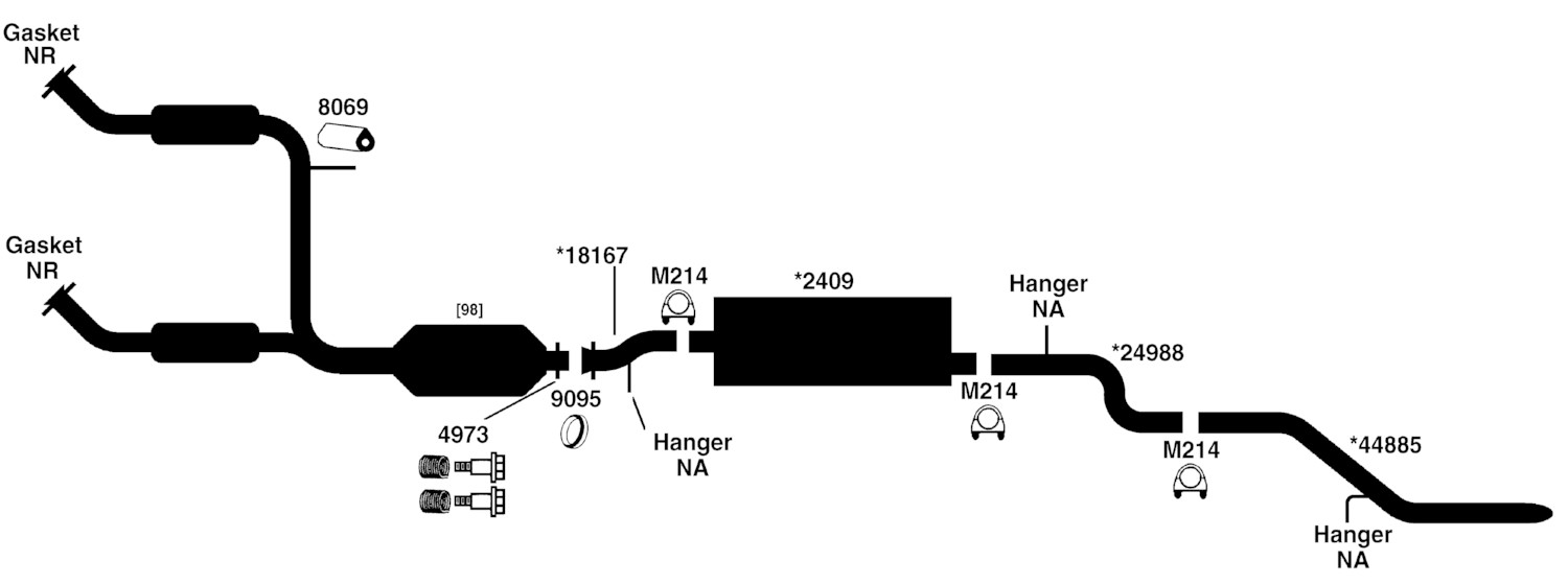 1998 ford explorer exhaust system diagram