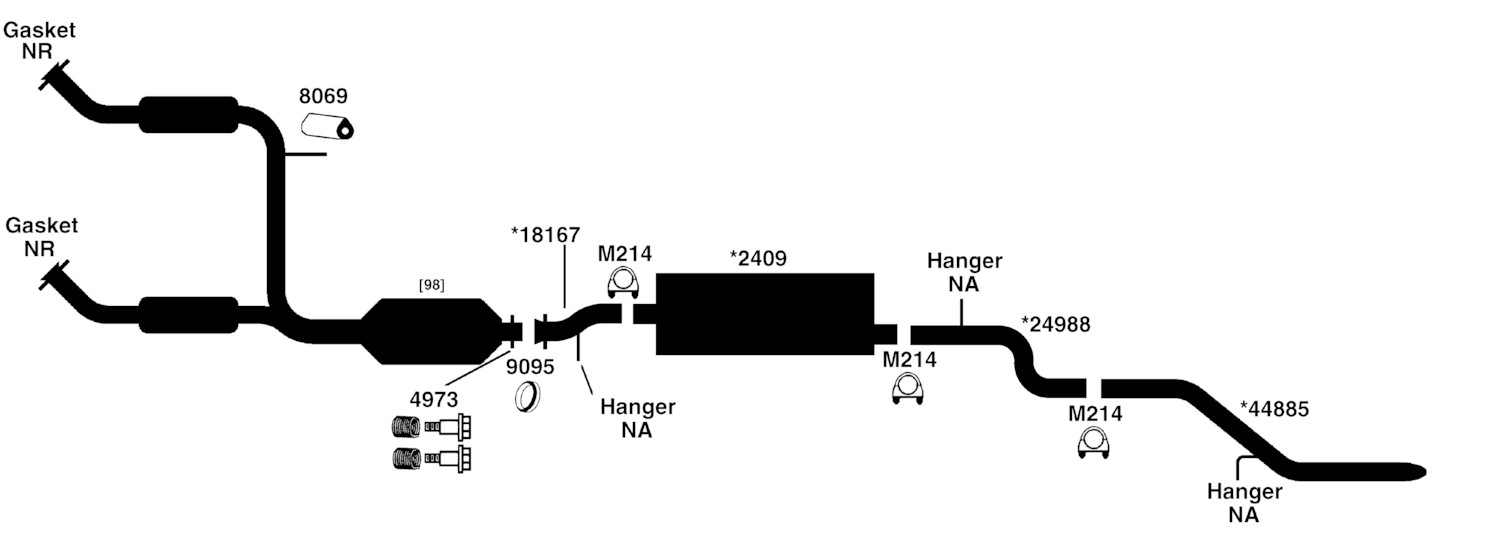 2001 ford escape v6 exhaust system diagram  ford  auto