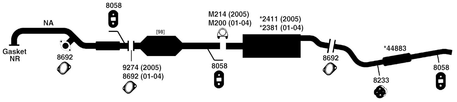 2003 Ford Escape Exhaust Diagram