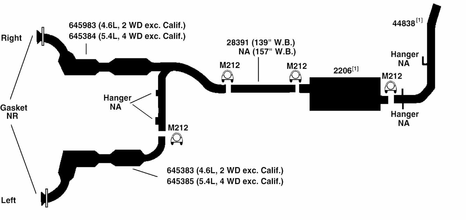 1998 ford f150 exhaust diagram