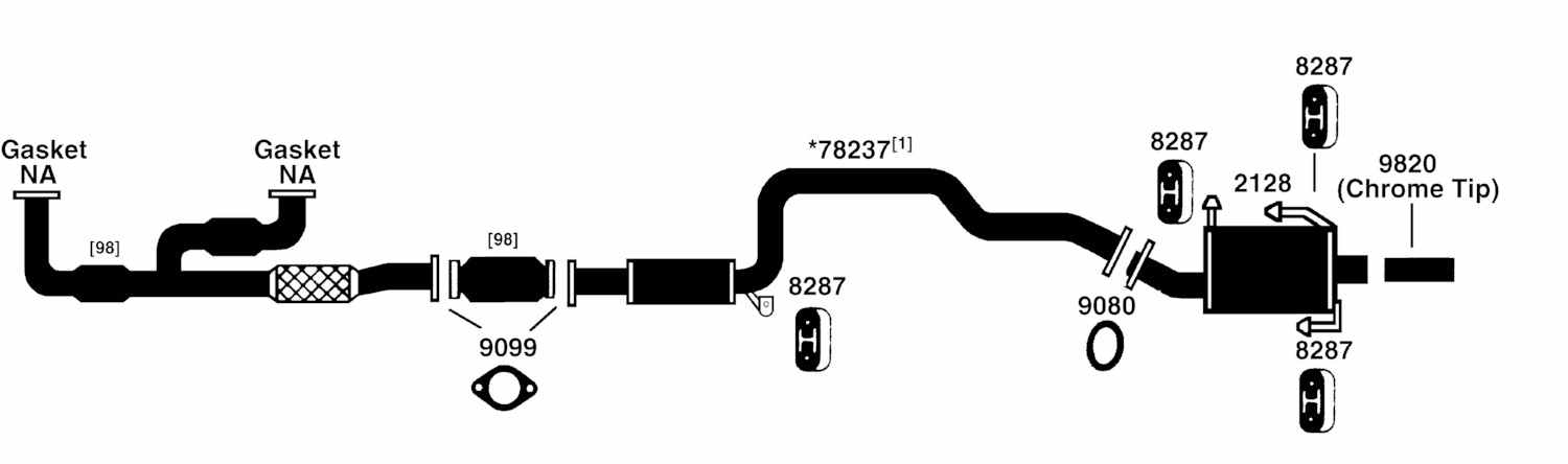NISSAN DATSUN MAXIMA Exhaust Diagram from Best Value Auto Parts