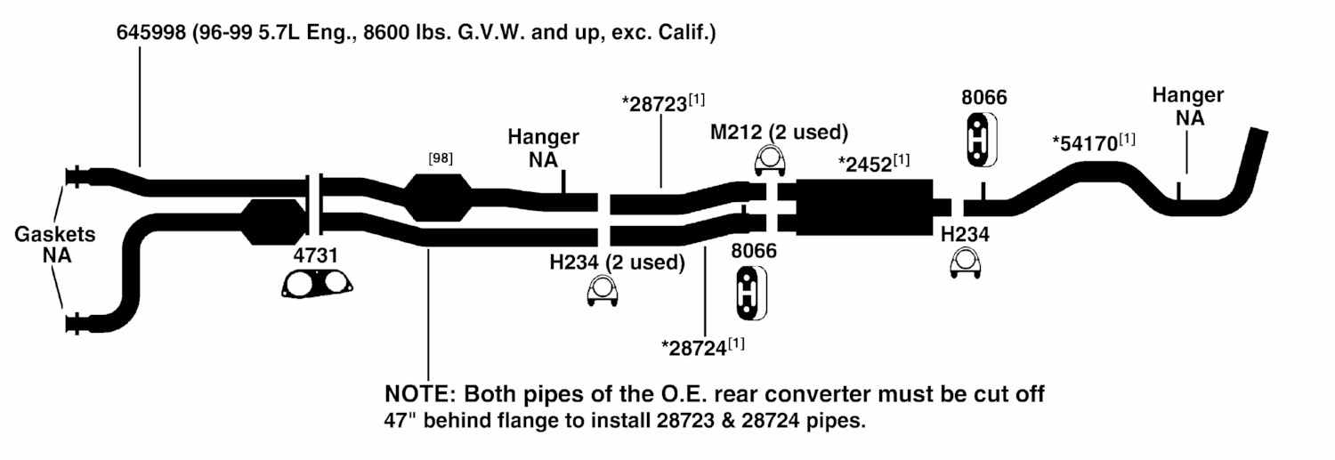 1998 chevy tahoe exhaust system diagram  1998  get free