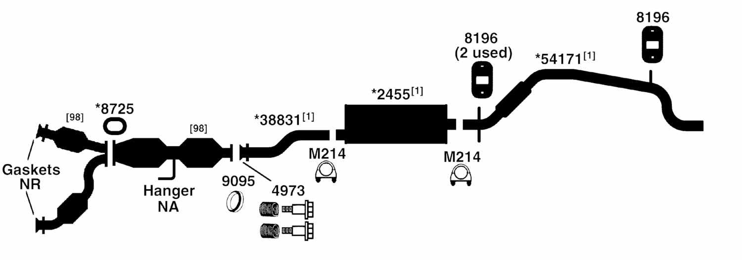2000 ford mustang exhaust system diagram  2000  free