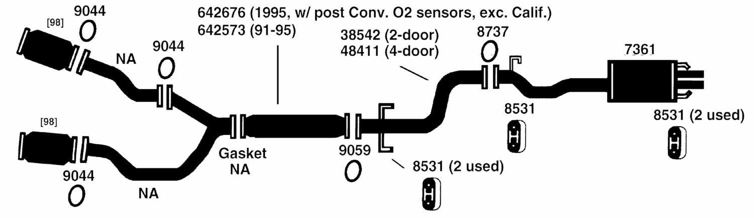 Acura Legend Exhaust Diagram From Best Value Auto Parts