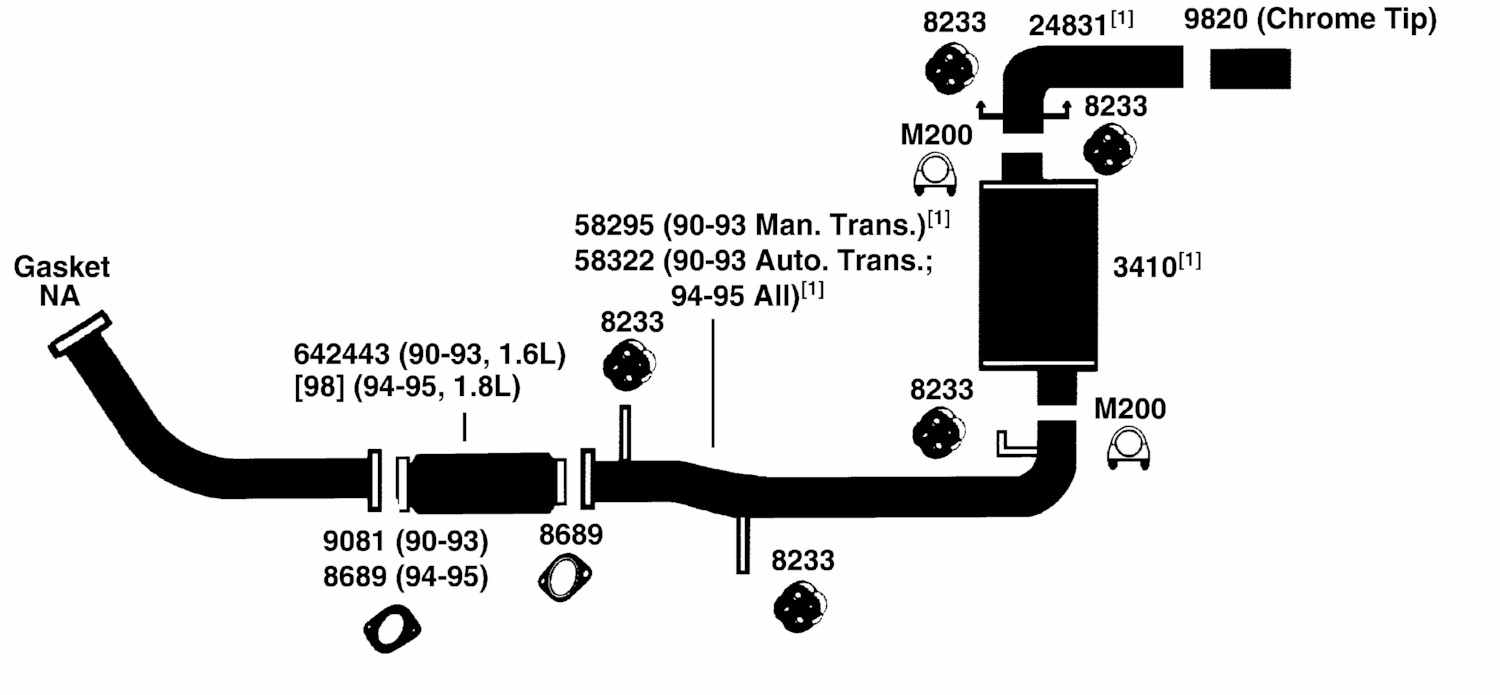 mazda mx5 miata exhaust diagram from best value auto parts 91 miata exhaust diagram at Miata Exhaust Diagram