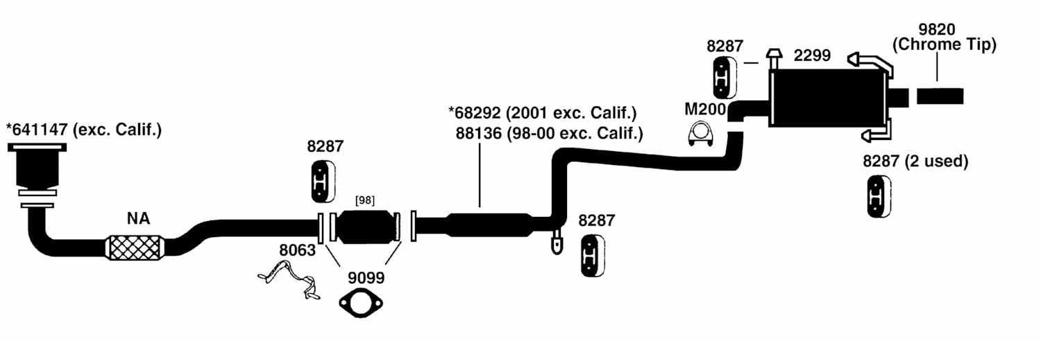 NISSAN DATSUN ALTIMA Exhaust Diagram from Best Value Auto Parts