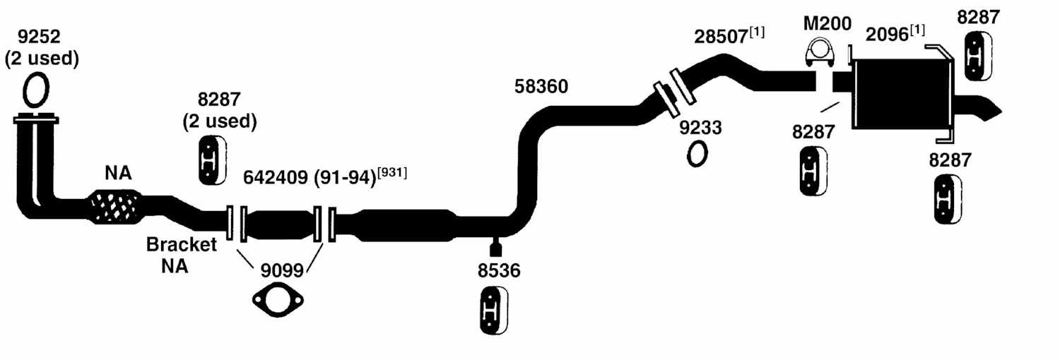Infiniti G20 Exhaust Diagram From Best Value Auto Parts