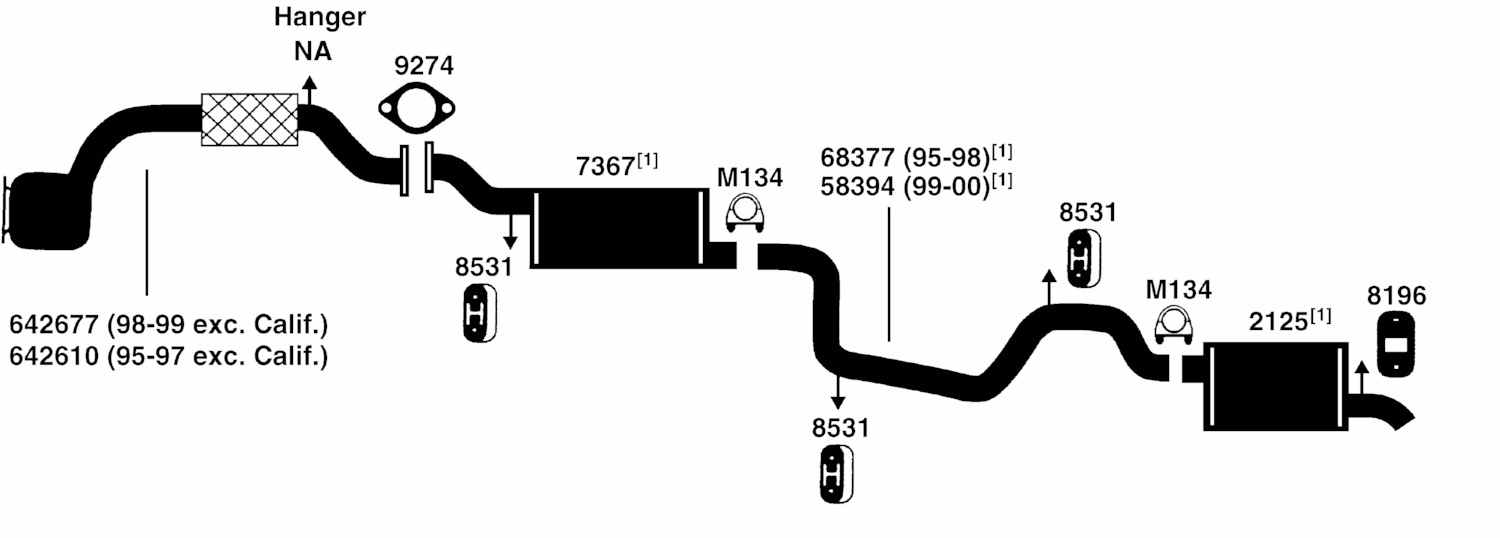 99 Ford Contour Engine Diagram http://www.bestvalueautoparts.com/Replacement_Parts/FORD/CONTOUR/Illust_Ref_c_Exhaust.html