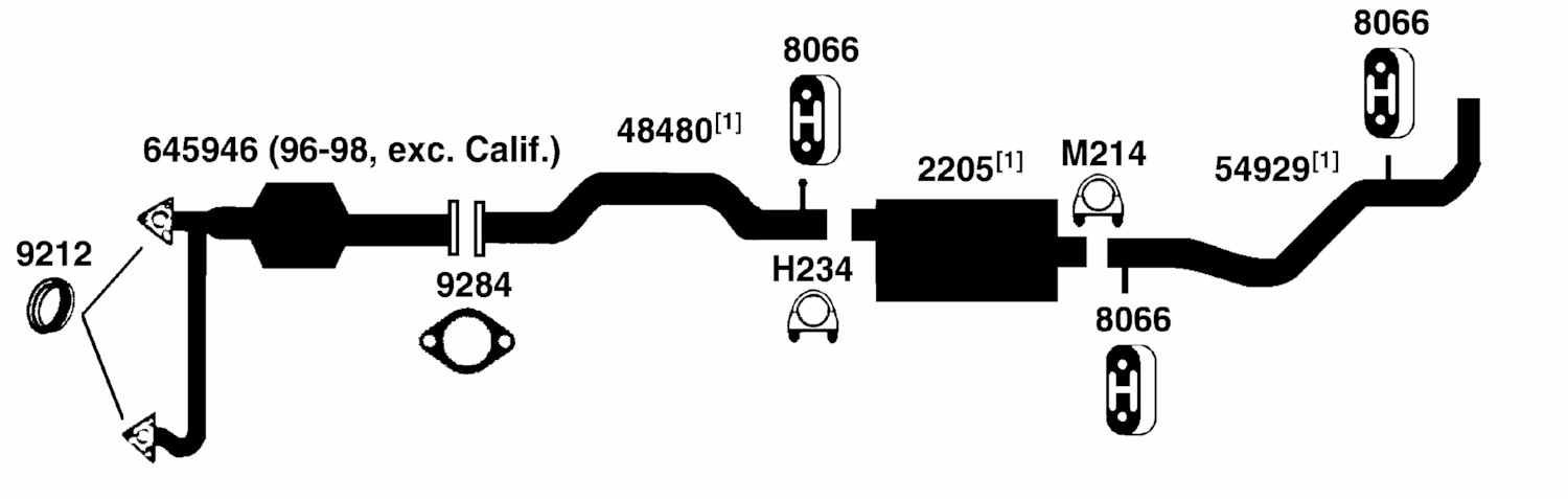 GMC PICKUP C1500 Exhaust    Diagram    from Best Value Auto Parts