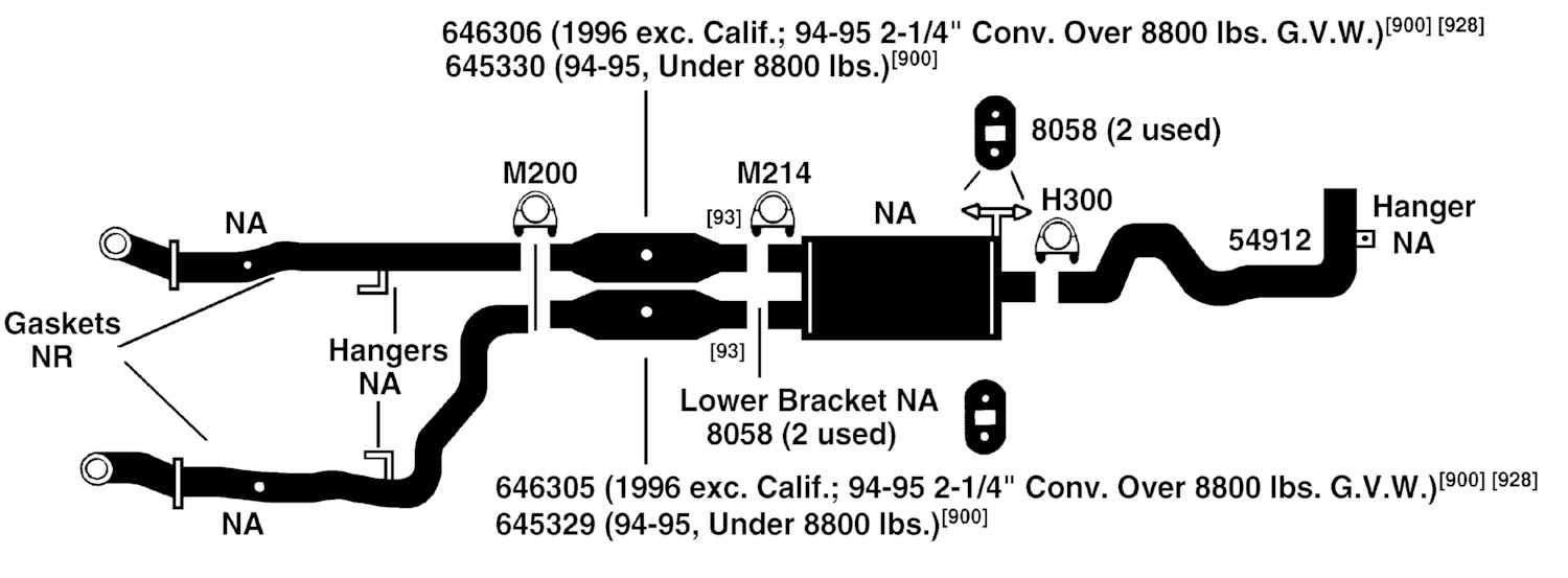 2008 dodge ram 1500 exhaust system diagram