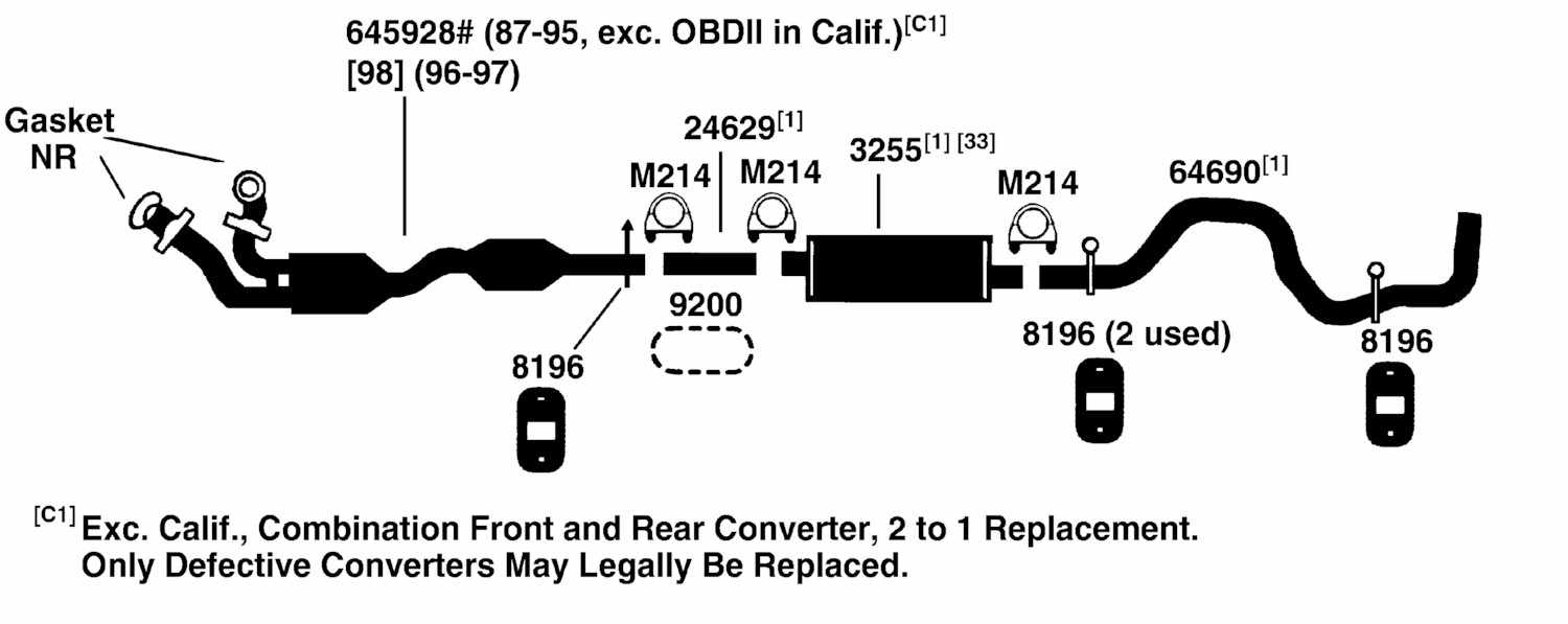 1993 f150 exhaust pipe diagram