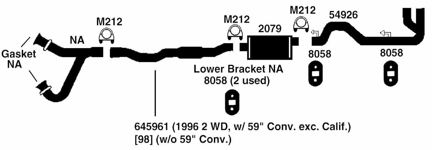dodge dakota exhaust system diagram