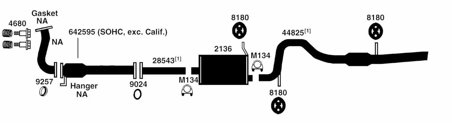 Geo Tracker Exhaust Diagram From Best Value Auto Parts