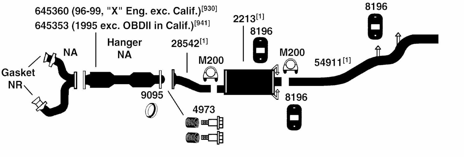 ford escape exhaust system diagram