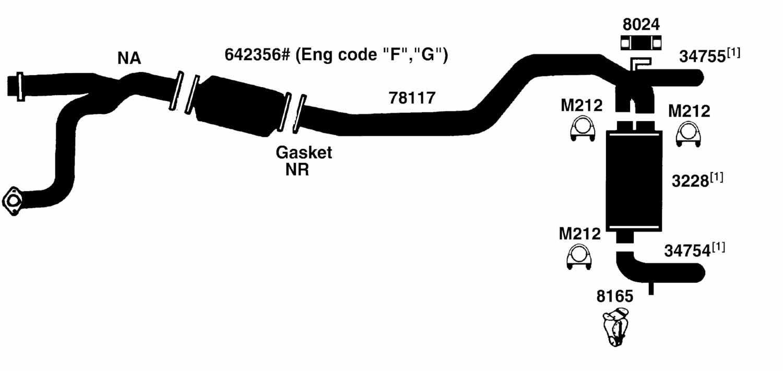 gmc van g3500 savana exhaust parts from best value auto parts
