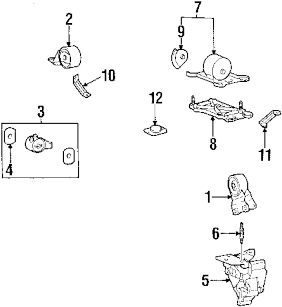 Browse A Sub Category To Buy Parts From Mopardirectparts. Genuine Hyundai Support Bracket Stud Hyu 2161738002. Hyundai. Hyundai Entourage Engine Mount Diagram At Scoala.co