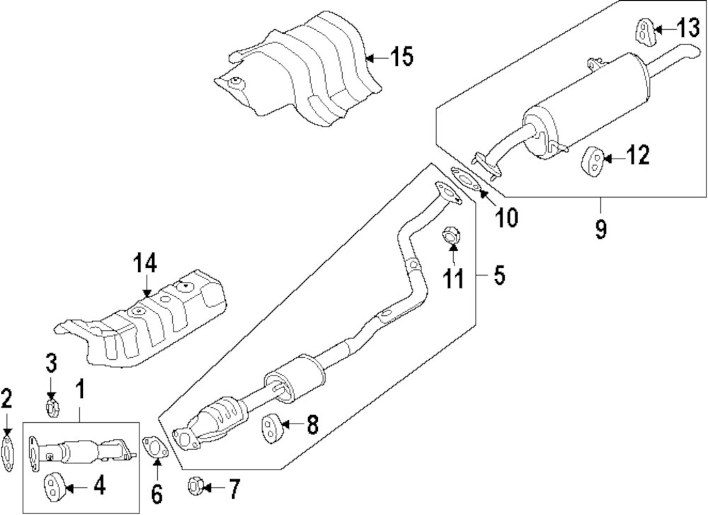 lexus exhaust diagrams  lexus  auto parts catalog and diagram