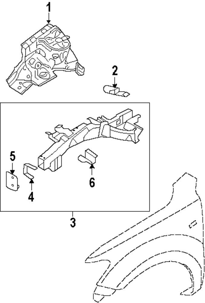 mopar direct parts dodge chrysler jeep ram wholesale retail parts 2004 Hyundai Accent Transmission Diagram genuine hyundai extension panel hyu 647742b200