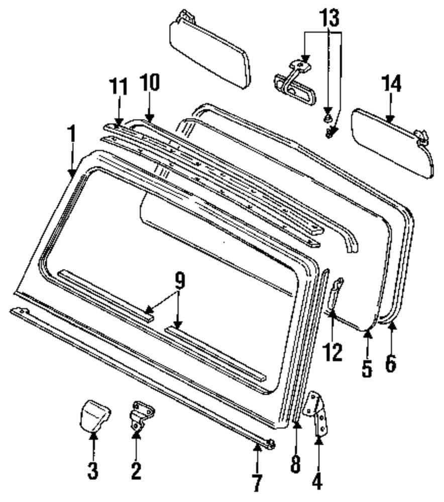 1989 suzuki samurai windshield parts