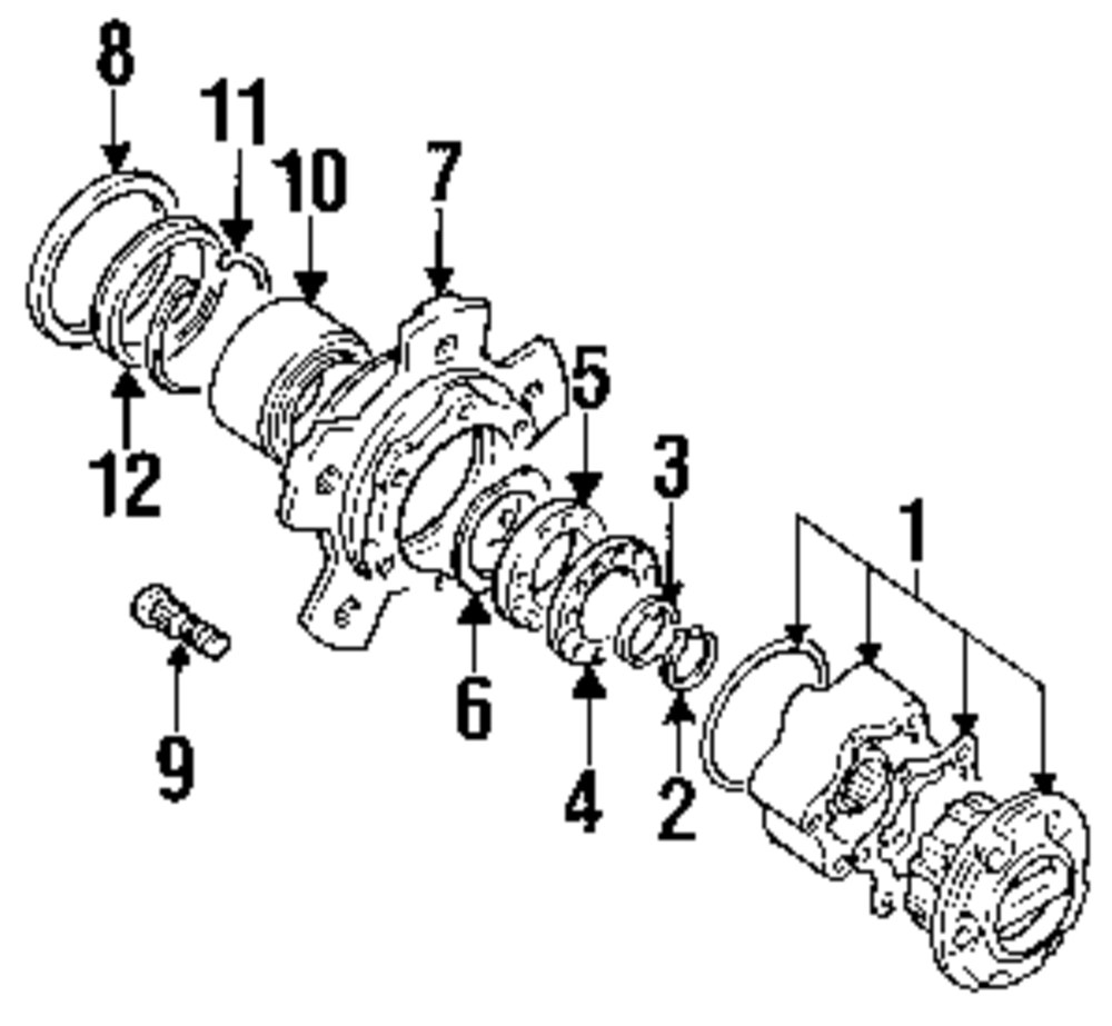 Browse A Sub Category To Buy Parts From 1999 Chevrolet Tracker Engine Wiring Diagram Genuine Suzuki Hub Suz 4342051820
