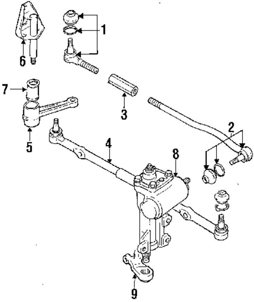 mopar direct parts dodge chrysler jeep ram wholesale retail parts 1994 Geo Tracker 4x4 genuine suzuki idler arm bushing suz 4875060a00