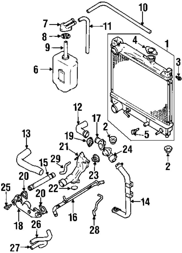 suzuki radiator diagram  suzuki  auto parts catalog and