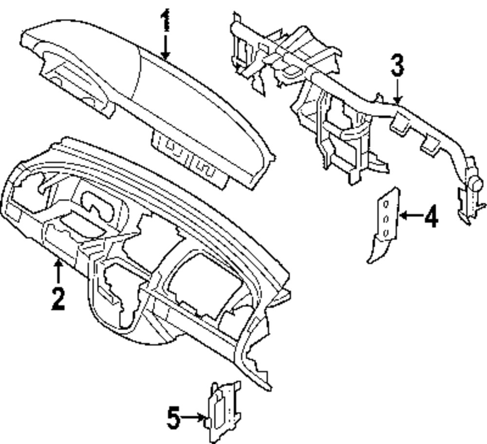 2007 Ford Explorer Sport Trac Instrument Panel Parts Engine Diagram 100259 1031nexpartb2ccom